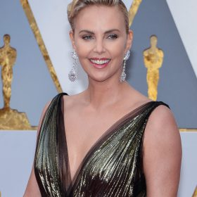 Charlize Theron nipples exposed