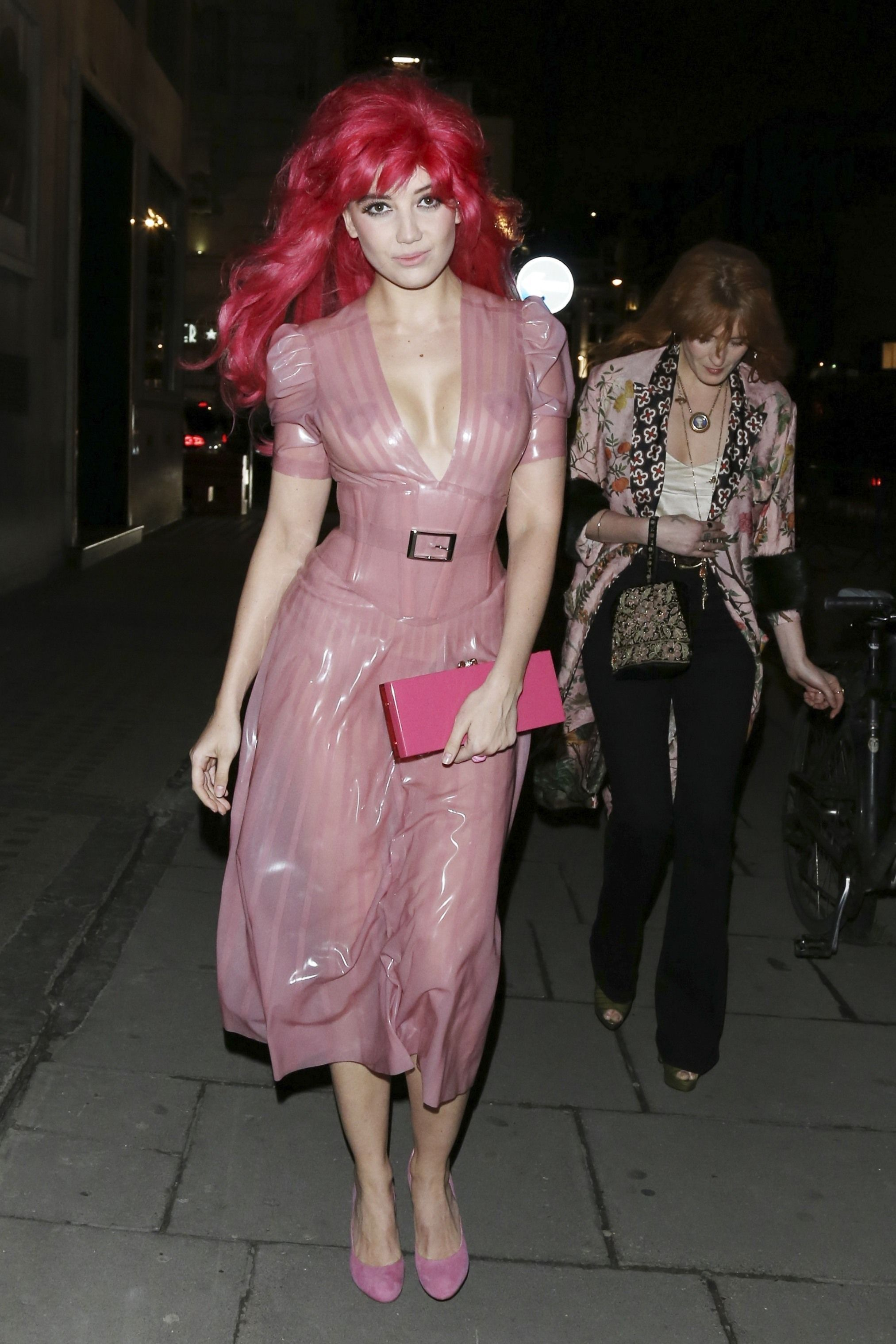 Daisy Lowe nipples exposed