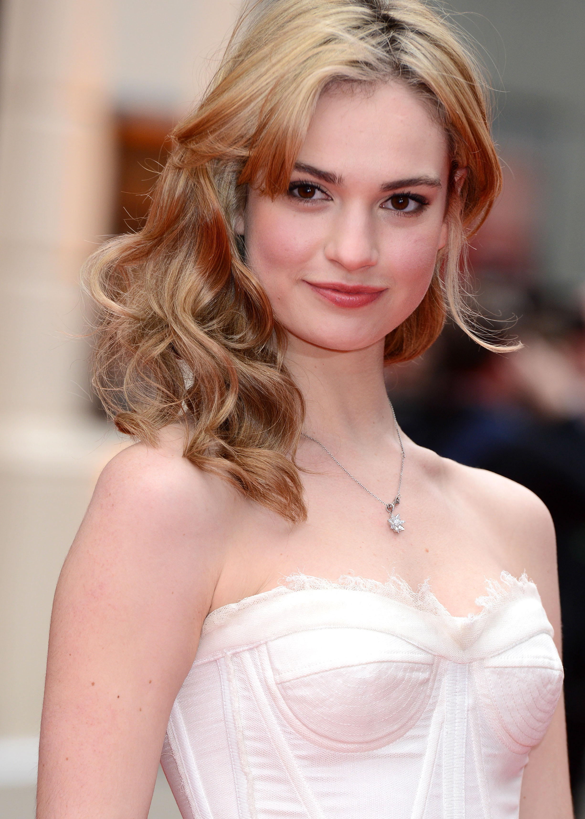 Lily james tits