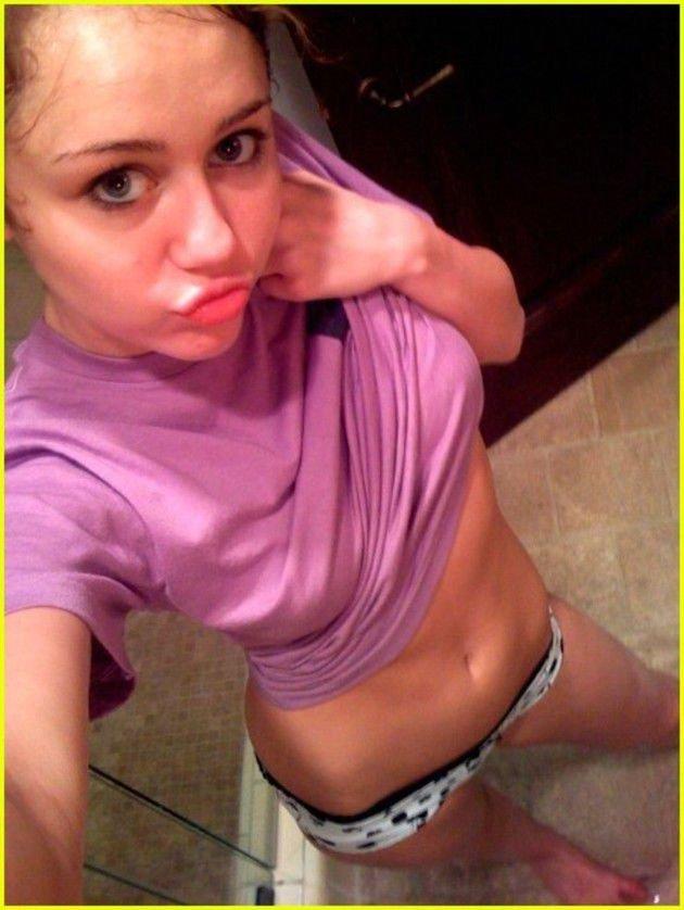 Miley Cyrus slip